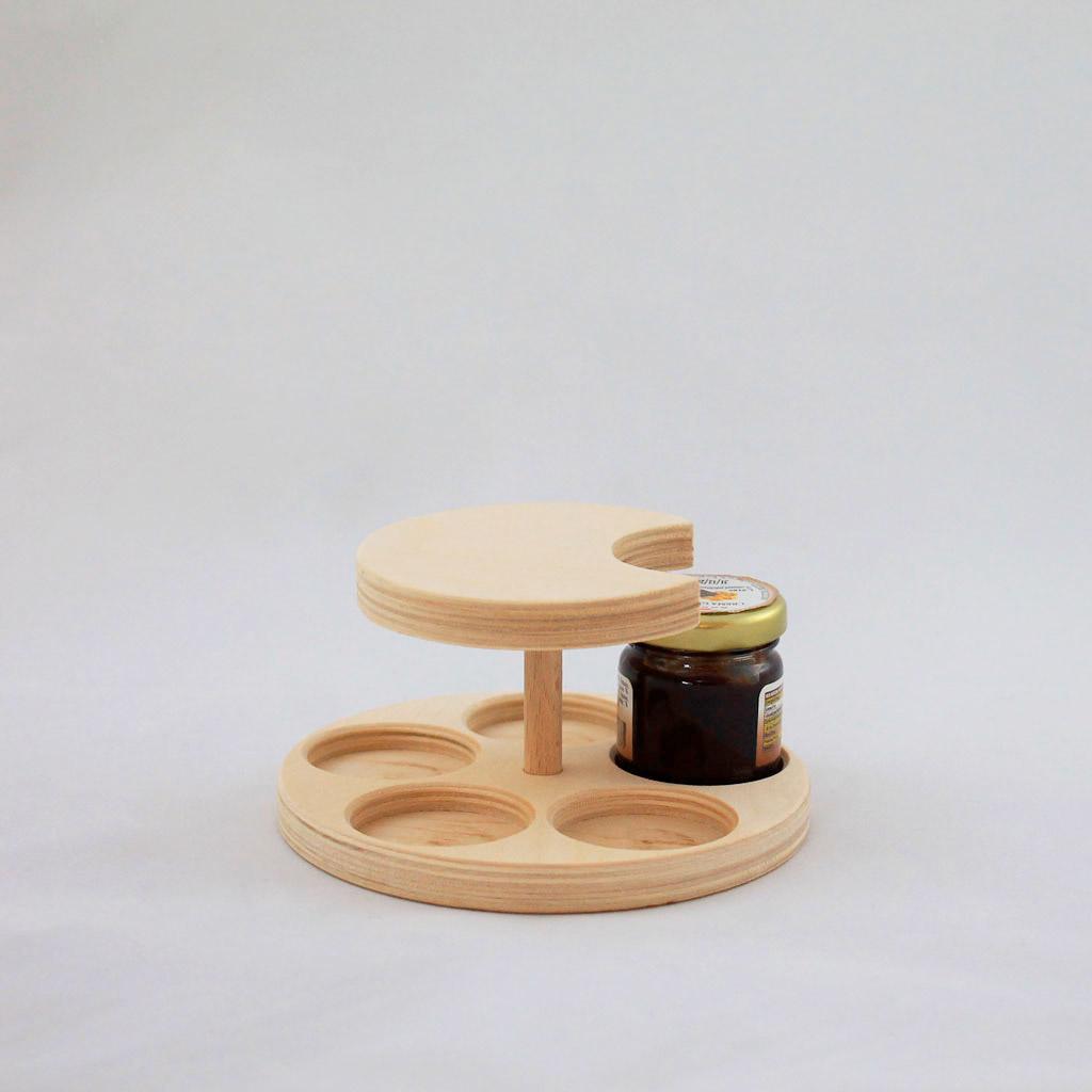 Portavasetti in legno