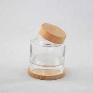 Tappi e ghiere in legno per creme e cosmetici