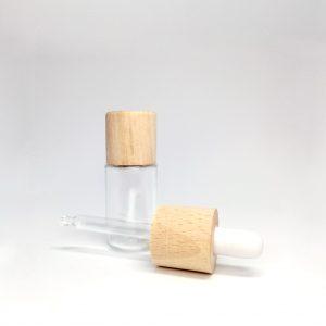 Contagocce con tappo in legno - packaging per cosmetici e profumi