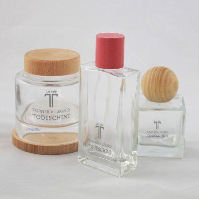 tappi in legno per cosmetici - Torneria legno Todeschini (Bergamo)